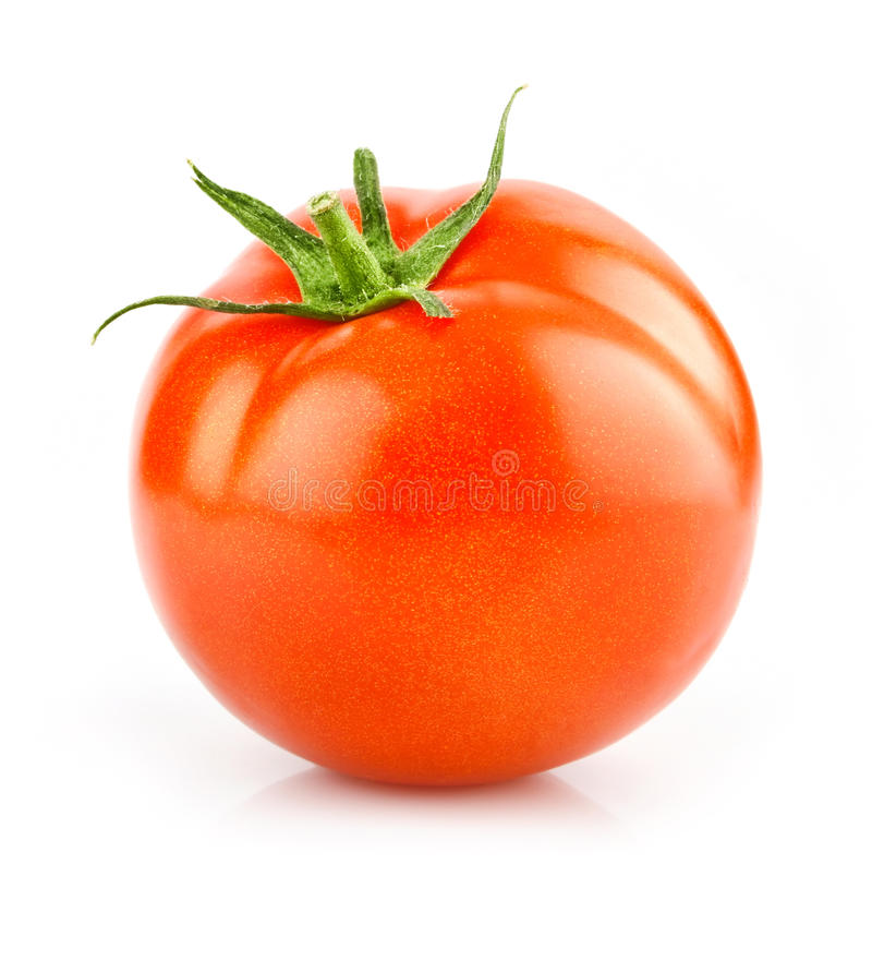 Free Red Tomato Vegetable Isolated On White Royalty Free Stock Photography - 10429697
