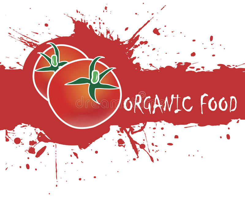Red tomatoes.Abstract background for organic food vector illustration