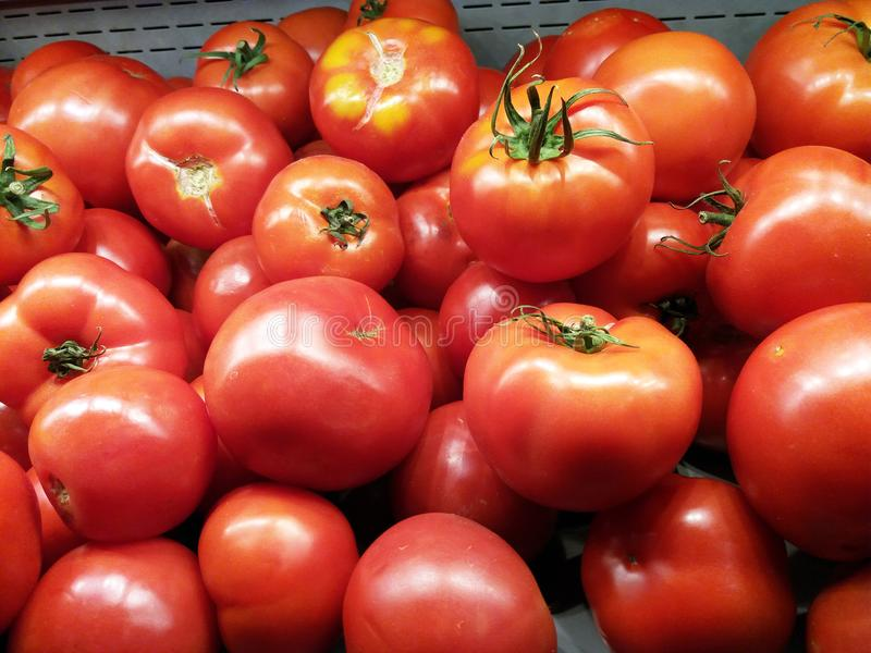 Red tomatoes background. Group of tomatoes.  stock images