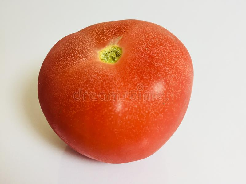 Red tomatoes zoomed studio shoot royalty free stock image