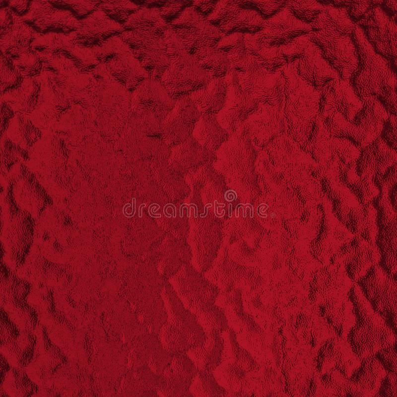 Red tone frosted ground glass texture abstract background. Squared Christmas background with copy space. stock photo