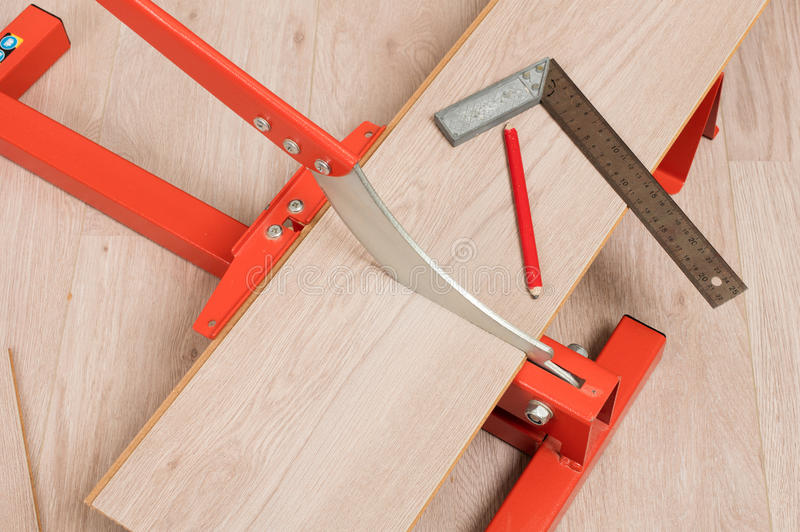 Red Tool For Cutting Laminate Stock Image Image Of Board