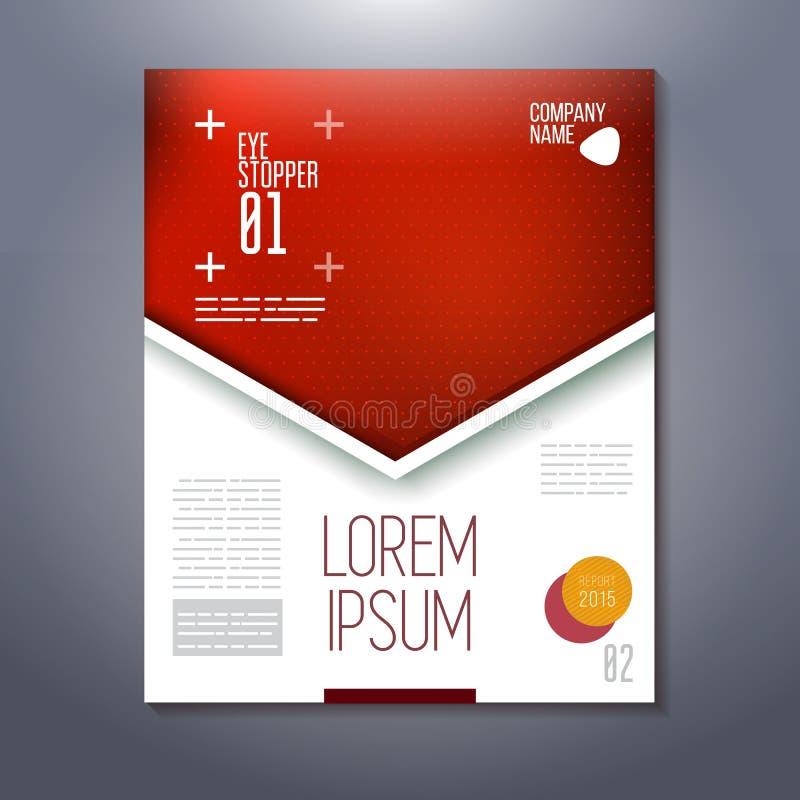 Red top frame for eye stopper, presentation vector illustration