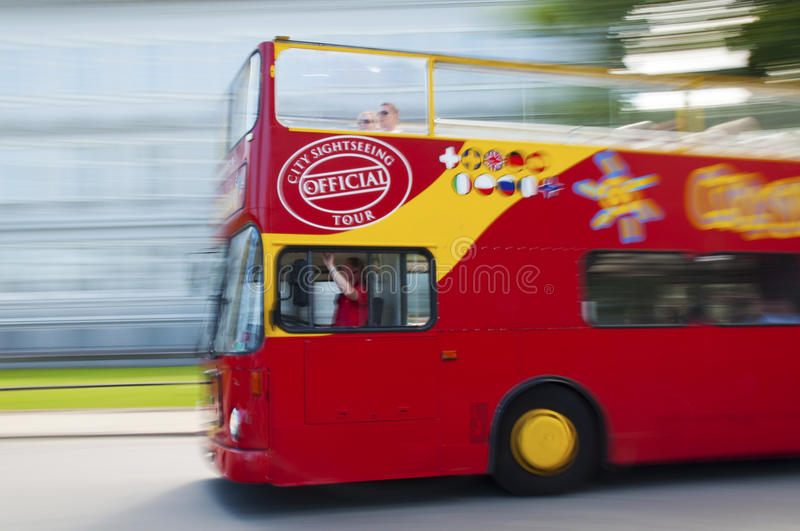 Download Red tour bus editorial stock photo. Image of city, vacation - 31822458