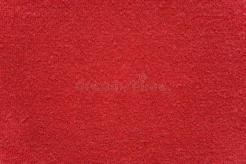 Red Towel Cloth Texture Stock Image