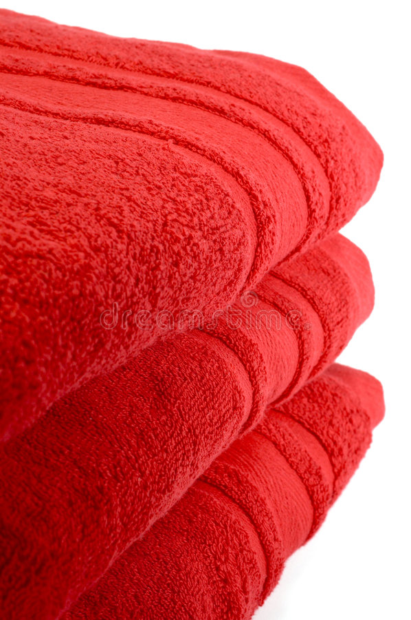 Red Towels Royalty Free Stock Photos