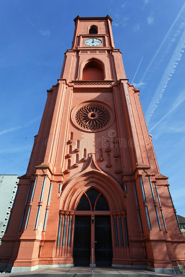 Red tower stock photo