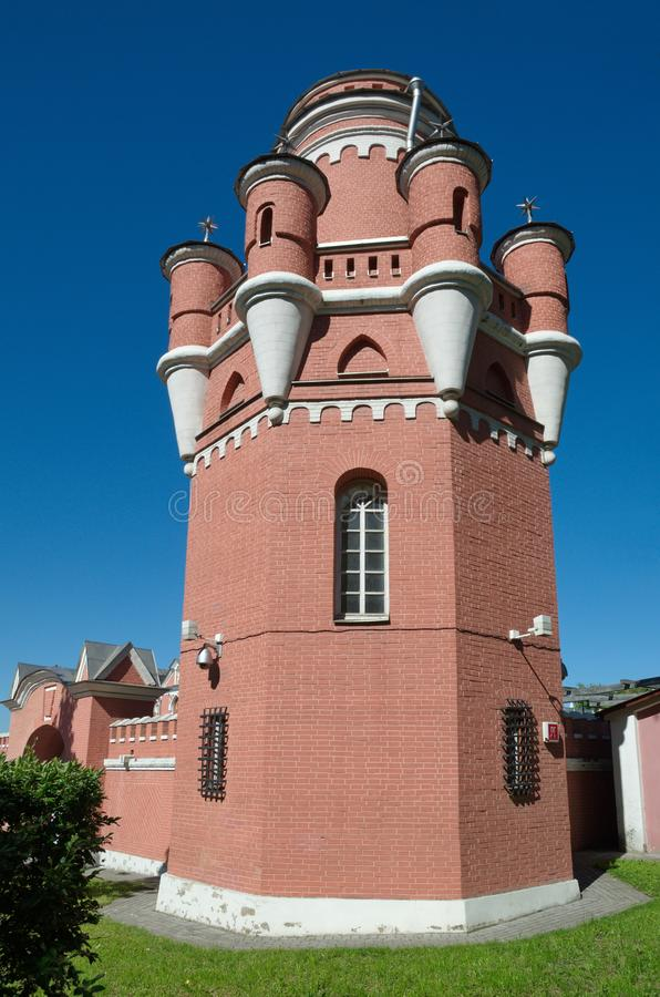 Red Tower of Petrovsky travel Palace, Moscow, Russia royalty free stock image