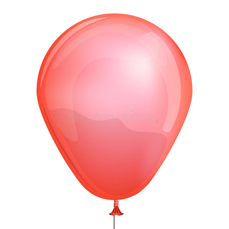 Red toy balloon vector illustration