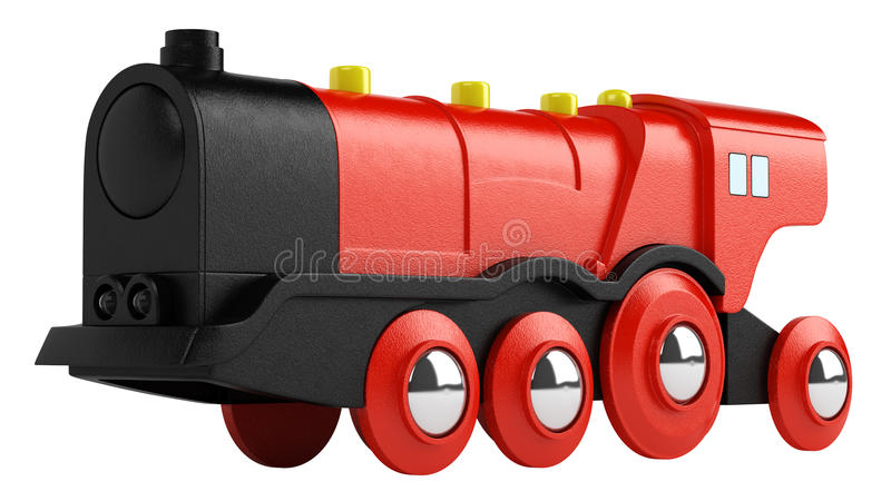 Red Toy Engine Royalty Free Stock Photos