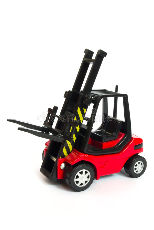 Download Red Toy Forklift Stock Photo - Image: 9020750