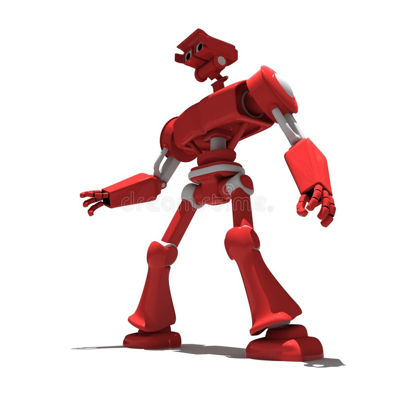 Red toy robot vector illustration