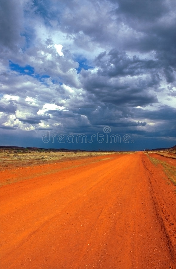 Download Red track in the outback stock image. Image of lane, road - 5582671