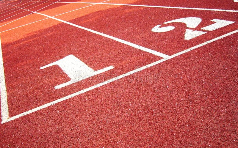 Download Red Track With White Figure Numbers Stock Image - Image of compete, marker: 631441