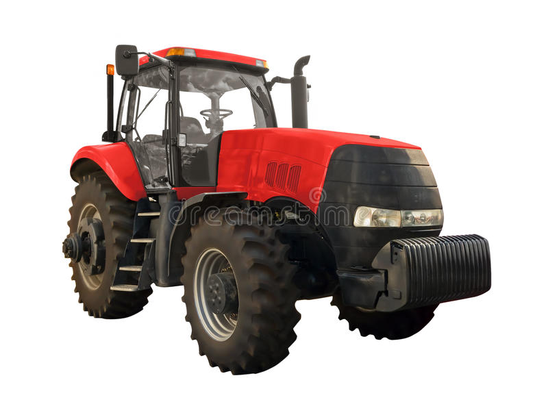 Red tractor stock photography