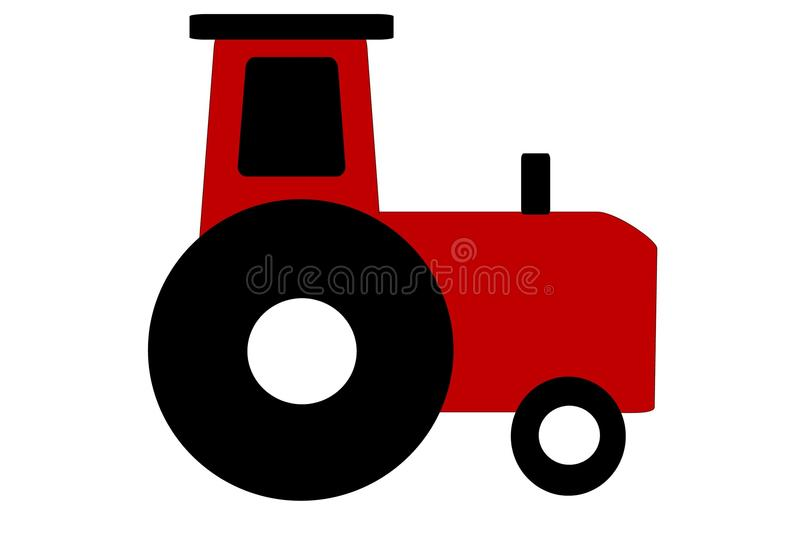 Download Red tractor illustration stock illustration. Image of farm - 15518161