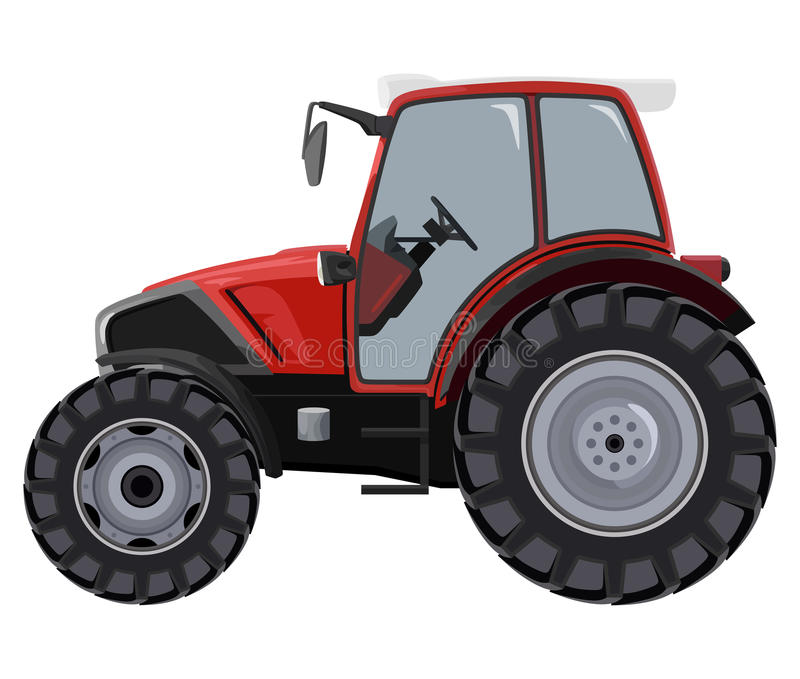 Red tractor royalty free illustration