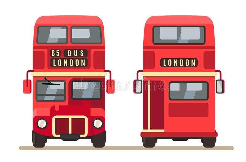 Red traditional London bus. royalty free illustration