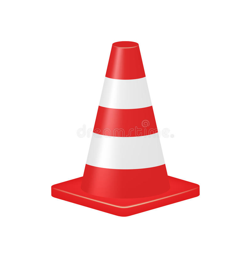 Download Red traffic cone stock vector. Illustration of danger - 30831951