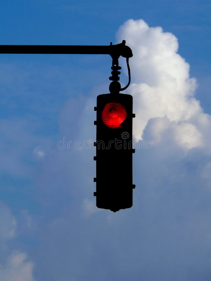 Download Red Traffic Light stock photo. Image of transportation - 199764