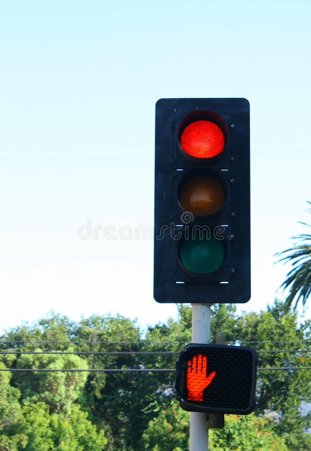 Download Red Traffic Light stock photo. Image of sign, pole, color - 21209842