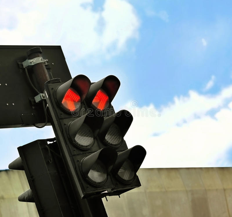 Download Red Traffic Light Royalty Free Stock Photo - Image: 25844815
