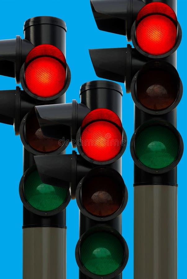 red traffic light royalty free stock photos