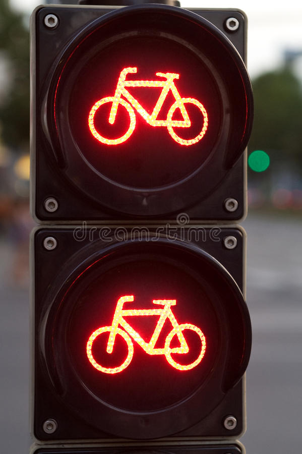 Download Red Traffic Light For Bicycles Stock Photo - Image of bicycle, backgrounds: 33591486