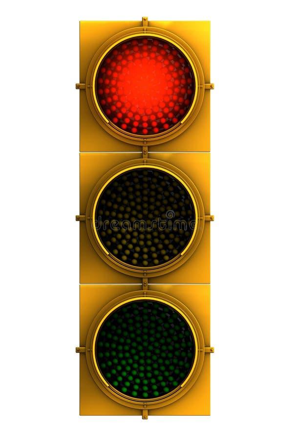 Red Traffic Light face on stock illustration