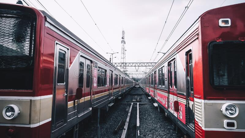 Red Train royalty free stock photography