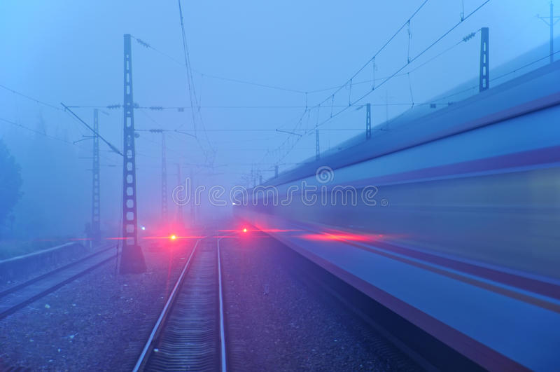 Red train signal royalty free stock images