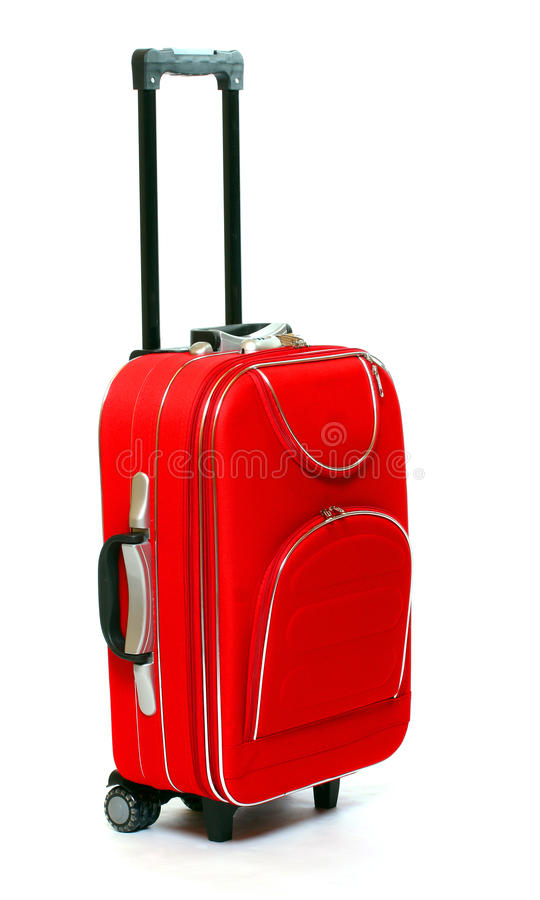 Free Red Travel Bag Royalty Free Stock Photo - 13439535