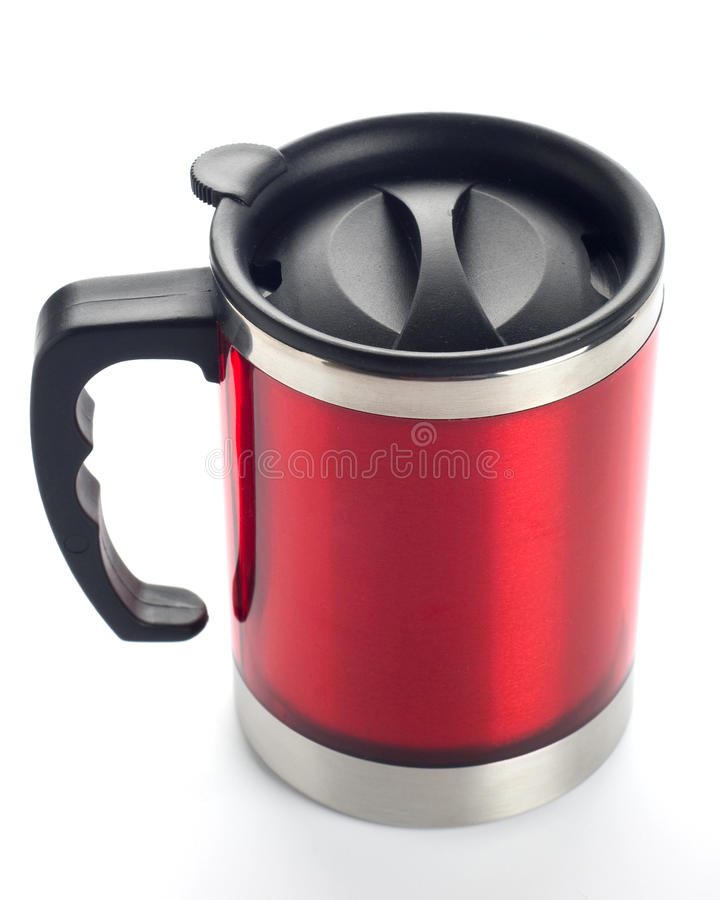 Download Red travel mug stock image. Image of object, heat, silver - 20861039