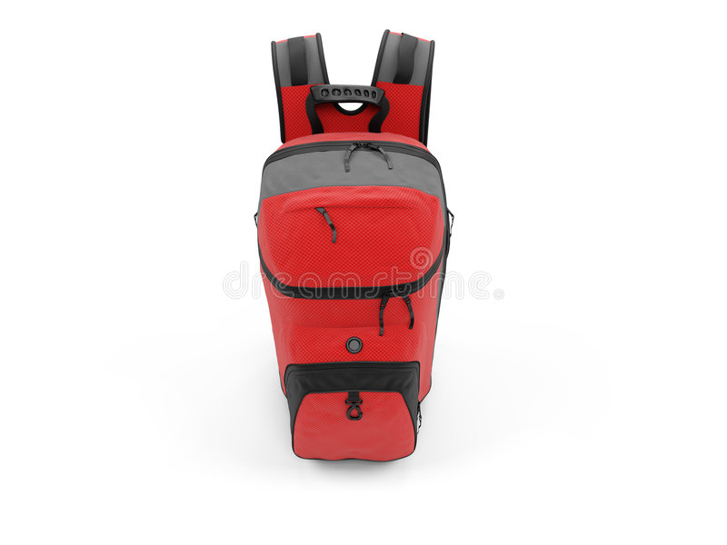 Red travel rucksack