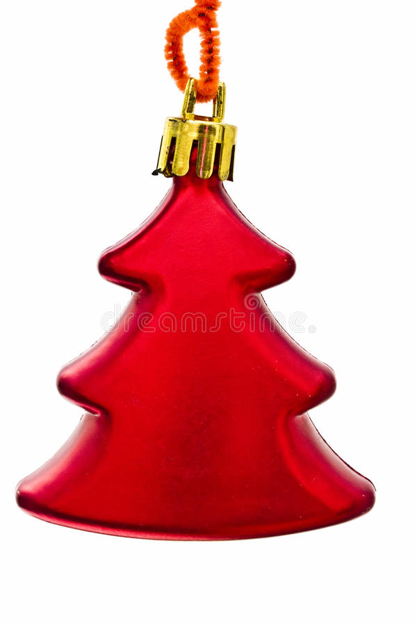 Red tree -Christmas decorations royalty free stock image