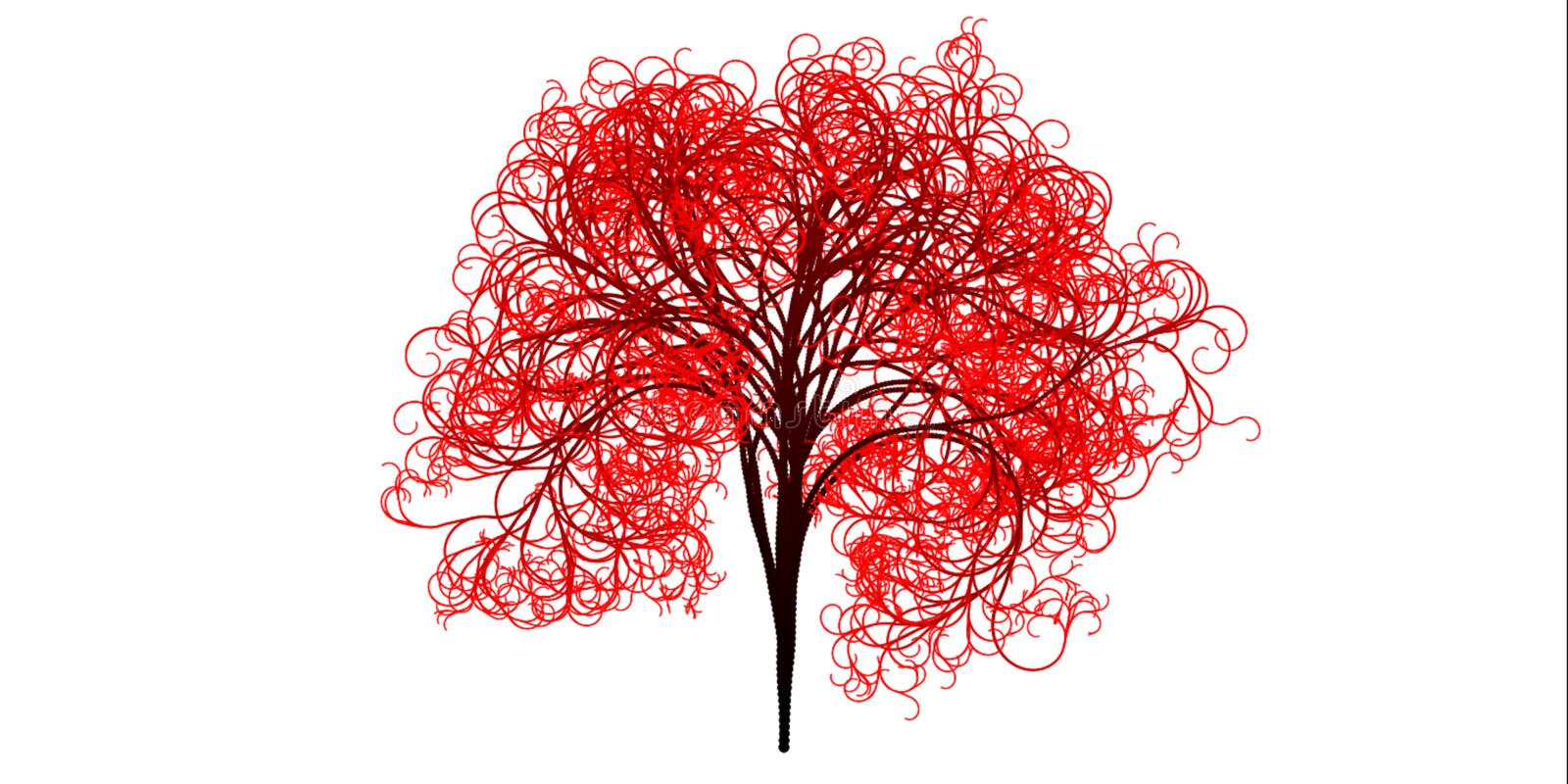 Red, Tree, Woody Plant, Leaf royalty free stock photography