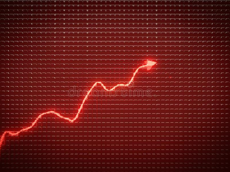 Red trend as success symbol or financial growth. Useful for analytics royalty free stock photos