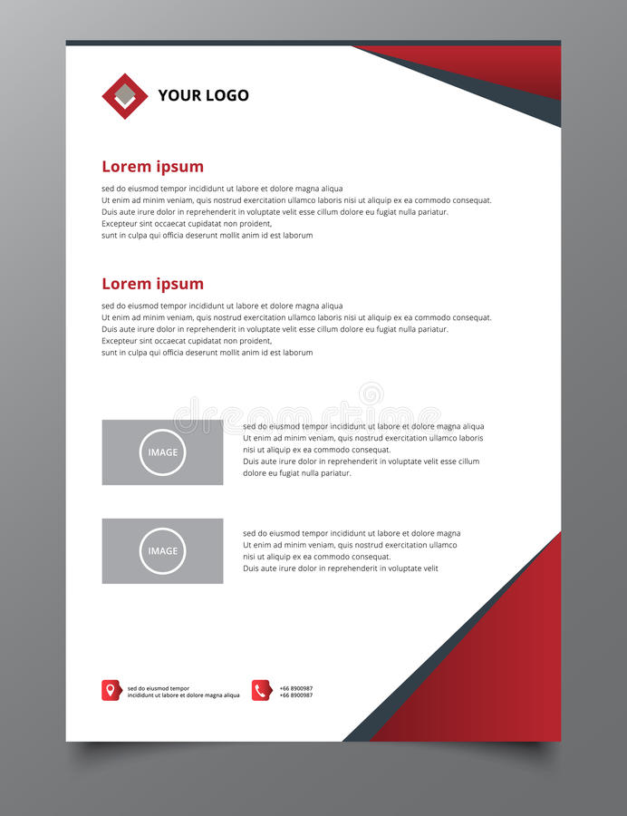 Red triangle annual report brochure flyer design template vector vector illustration