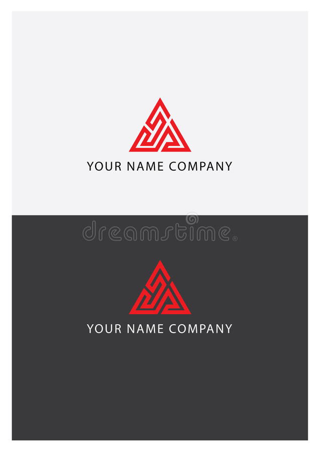 Red triangle logo royalty free stock photo