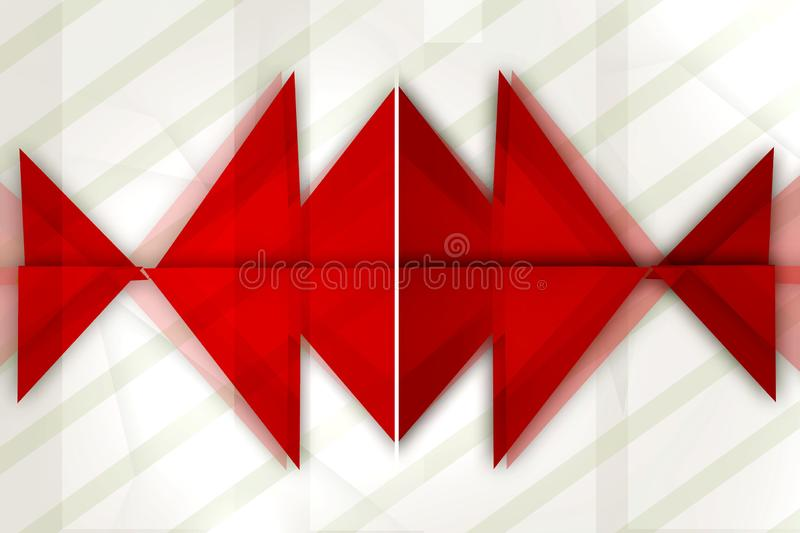 Red triangle overlap top side abstract background. Creative background royalty free illustration