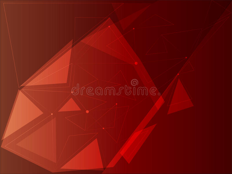 Red triangles with abstract dots vector illustration