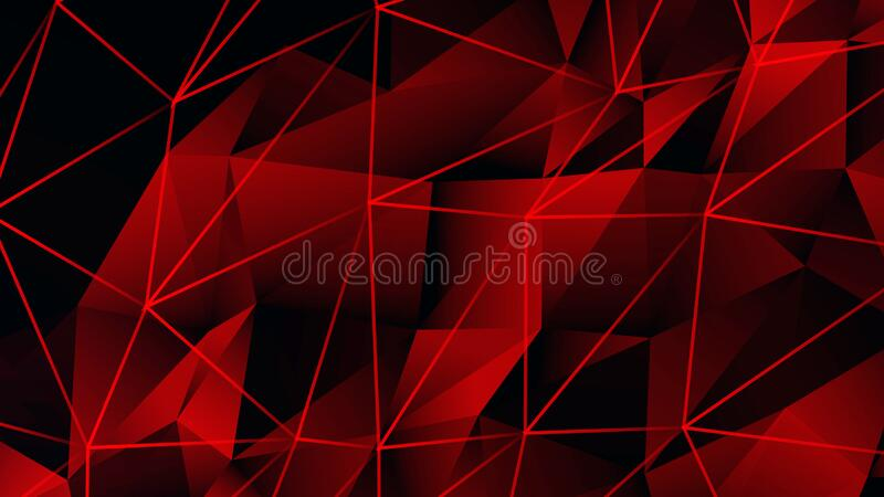 Red triangles shape design with connecting lines background. Professional background,can be used as desktop background royalty free illustration