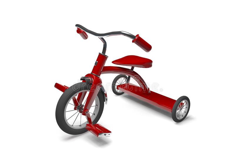 Red tricycle vector illustration