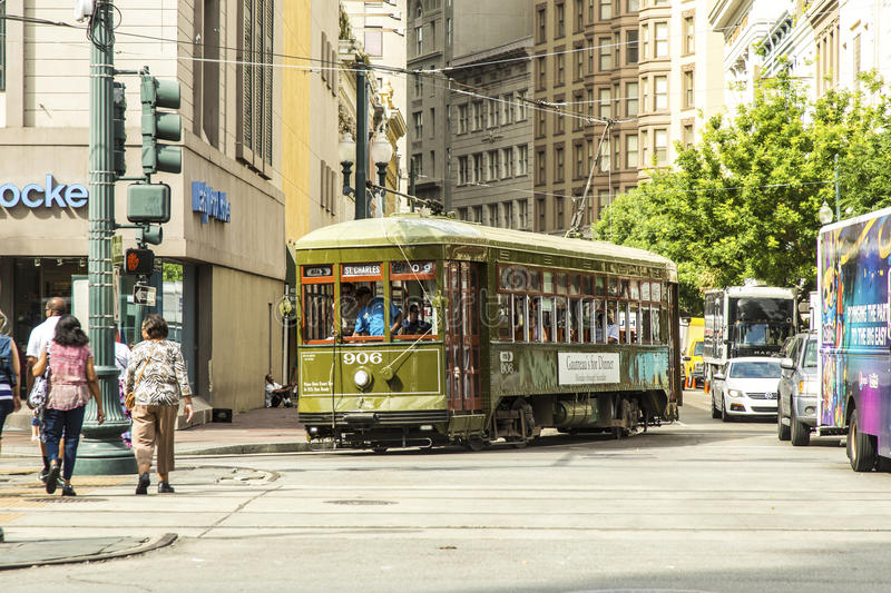 Download Red Trolley Streetcar On Rail Editorial Image - Image: 32877580
