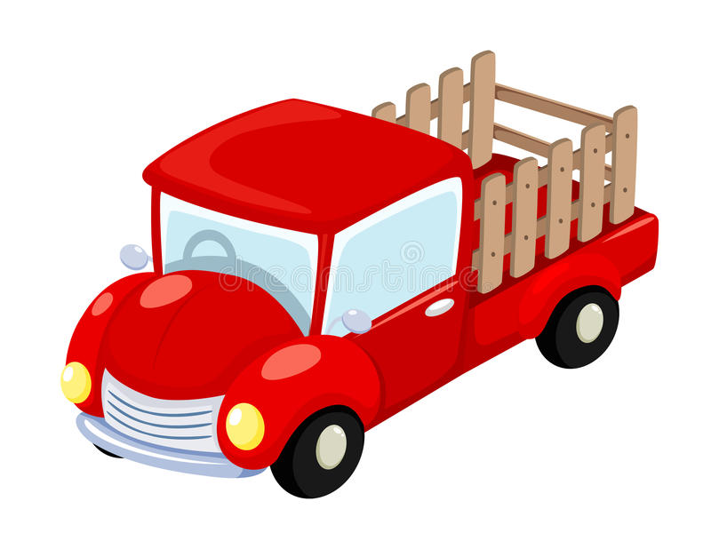 Download Red truck stock vector. Image of clipping, more, lorry - 26185190