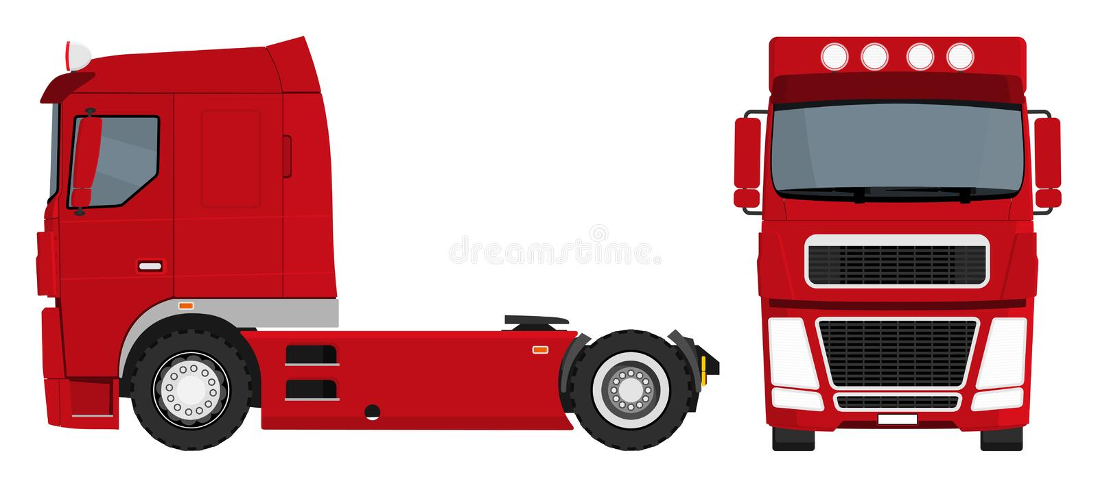 Download Red truck stock vector. Image of isolated, design, drive - 27320098