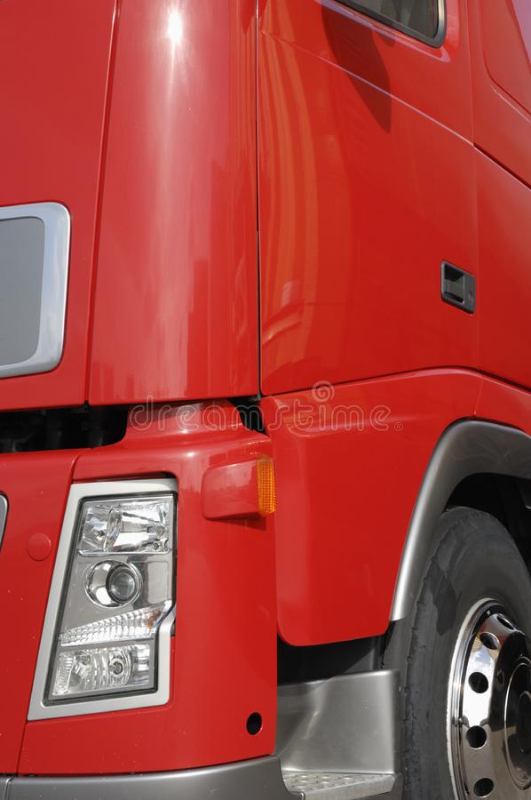 Red truck detail royalty free stock photo
