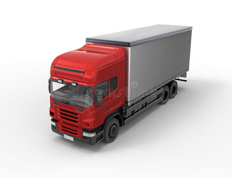 Download Red truck on white stock illustration. Image of white - 23226497