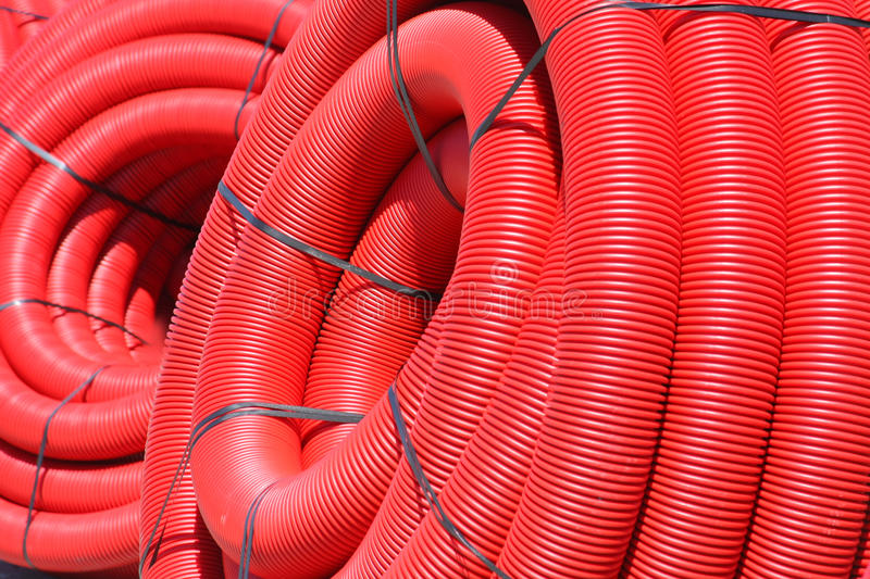 Red tube coil stock photos
