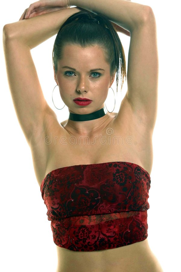 Red Tube Top Portraits Royalty Free Stock Photo